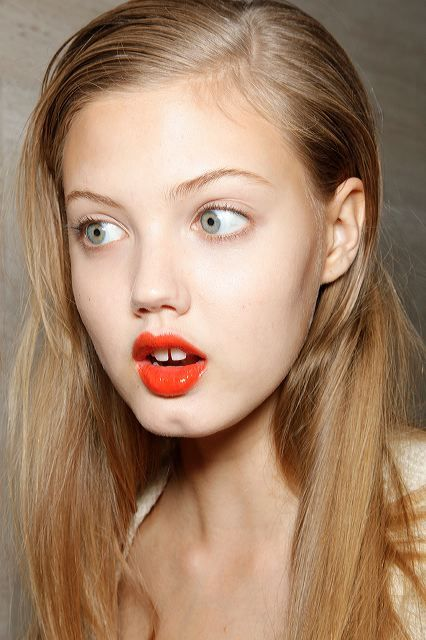 girl, lindsey wixson, model, red lips