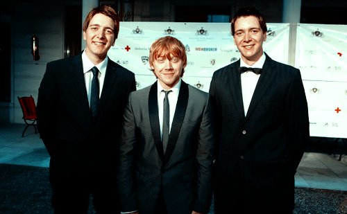 guys, harry potter, james phelps, oliver phelps, rupert grint, weasley