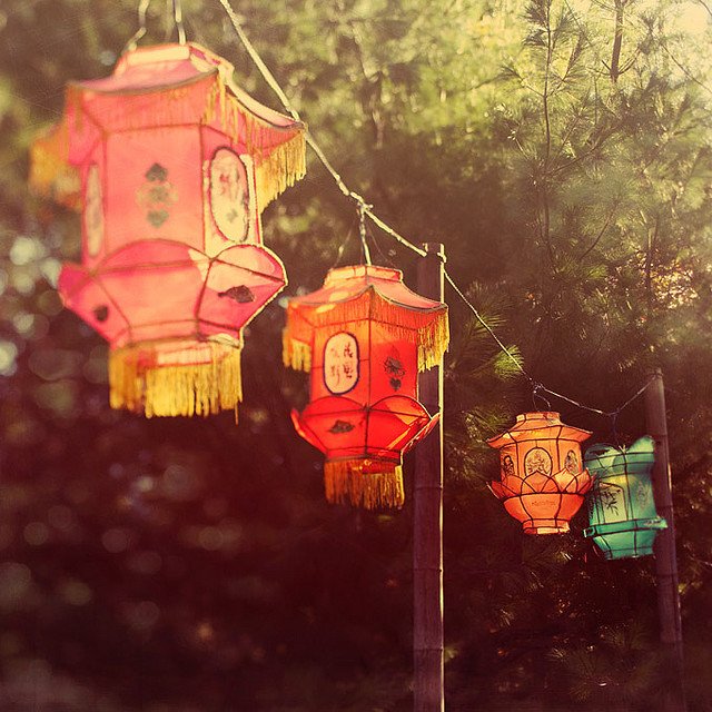 lanterns, magic, oriental