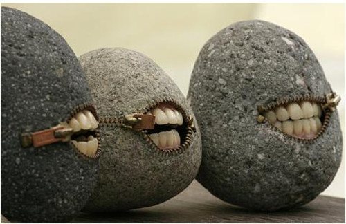 smile, stone, teeth, wtf, zip