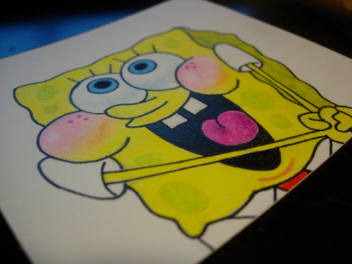 *-*, smile, spongebob, spongy, yellow