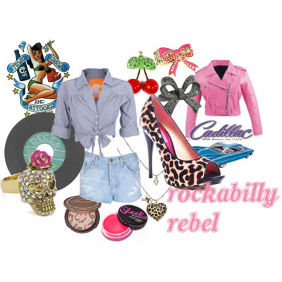 1950, fashion, pink, rebel, retro, rockabilly, vintage