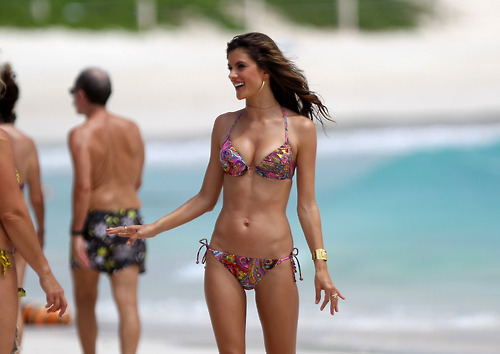 alessandra ambrosio, beach, bikini, body, brunette