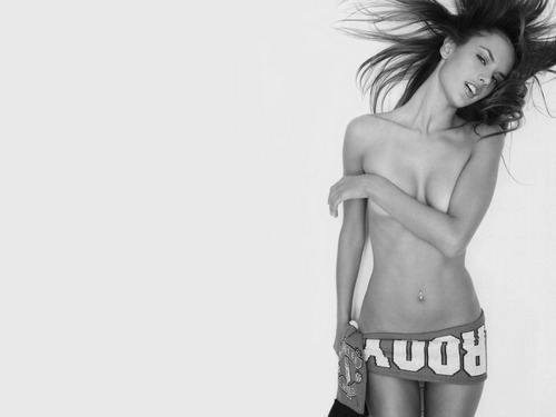 alessandra ambrosio, beautiful, black and white, bones, cute