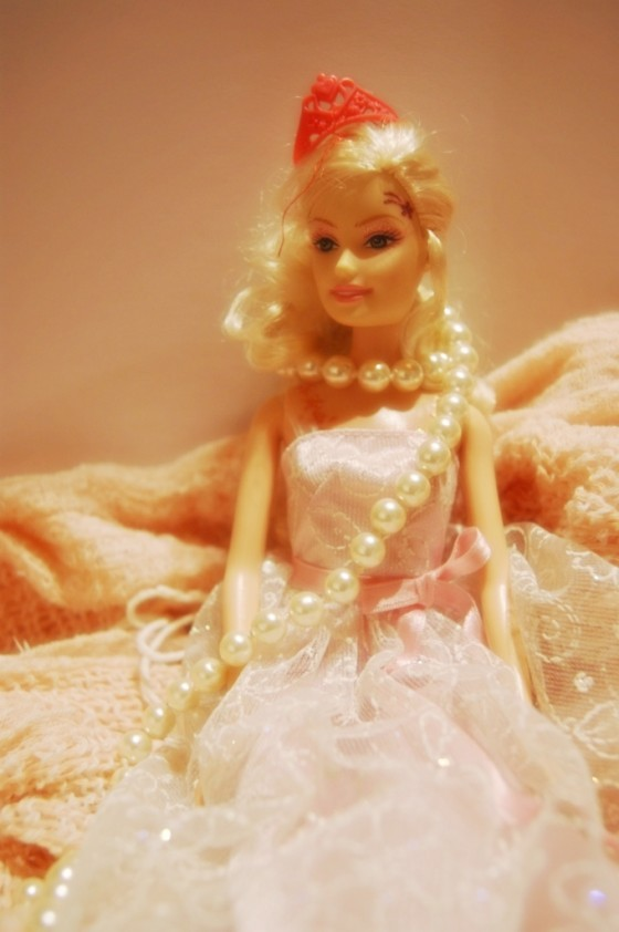 barbey, barbie, blond, christmas, collar, crown, cute, doll, dress, girl, girly, necklace, pearl, pink, plastic, princess, puppet