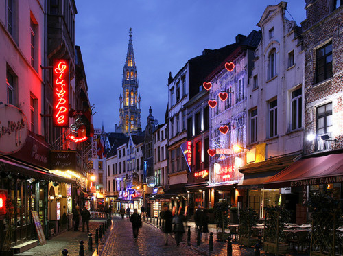belgium, brussels, city, evening