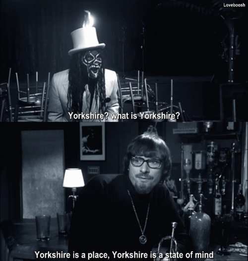 black and white, caption, funny, howard moon, mighty boosh