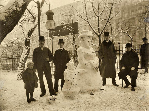 black and white, snow, snowman, vintage, winter
