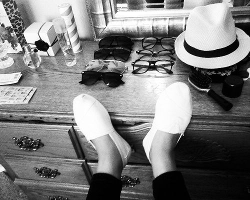 black, fashion, glasses, hat, perfume, shoes, style, sunglasses, vintage, white
