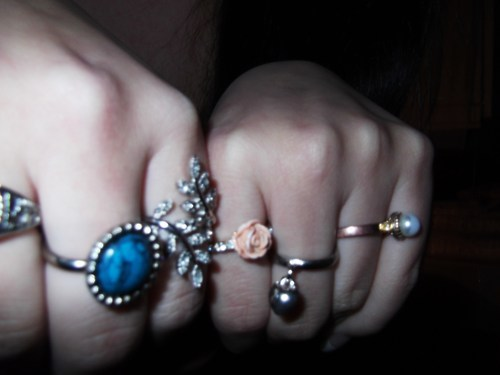 blue, costume, fashion, heart, jewlery