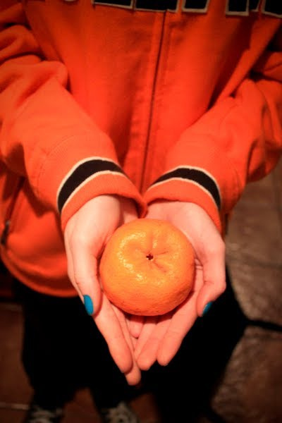 blue, crepusculo, edward, food, fruits, ginger, gingers, hands, hollan, laranja, nails, orange, parody, photo, tangerine, twilight, williams