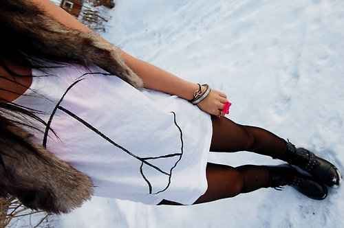 boots, bracelets, cute, fashion, fur