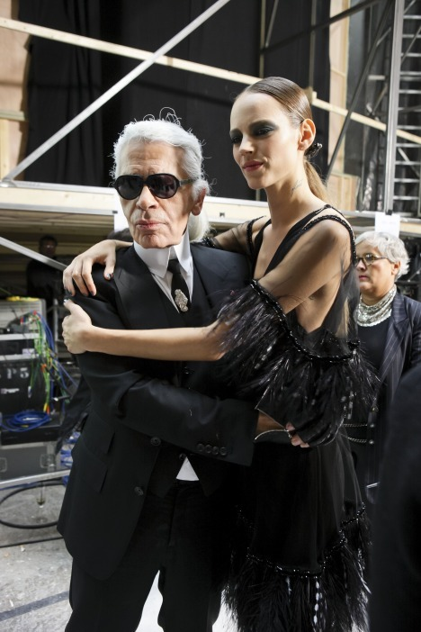 chanel, freja beha, karl lagerfeld, model