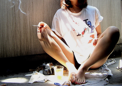cigarette, girl, mess, photography