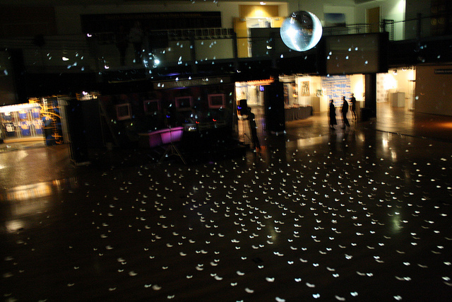disco lights, hall of champs, homecoming, lights