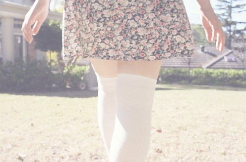 dress, fashion, floral, photography, pretty, socks