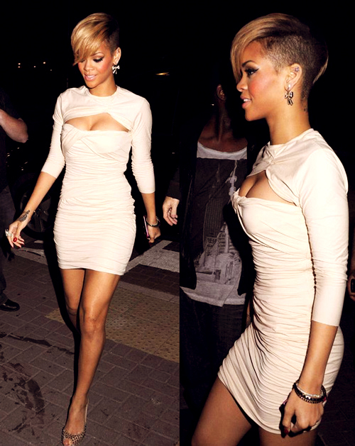 dress, rihanna, robyn fenty, white