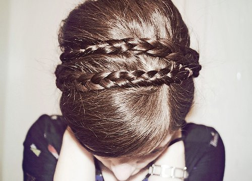 faceless, hair, photography, plaits