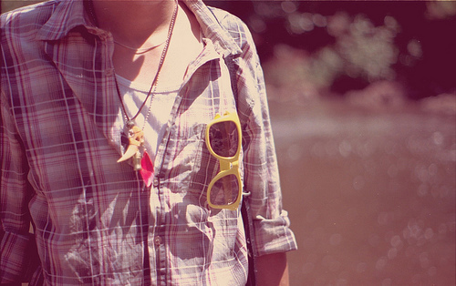 accessory, flannel, plaid, shirt, sunglasses