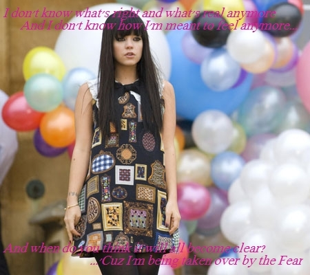 allen, cute, fear, girl, lily, lily allen, lyric, lyrics, song, sweet, the fear, typography