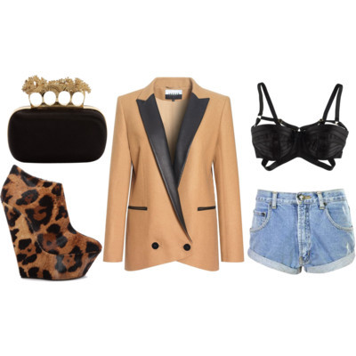 animal print, bra, fashion, shorts