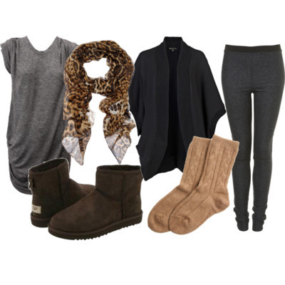 animal print, cardigan, fashion, ugg