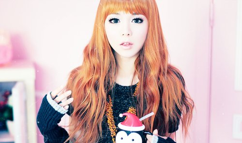 asian, ginger, girl, makeup, pretty