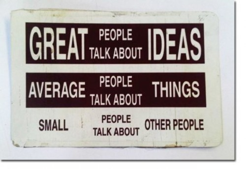 average, genius, great, ideas, small, things