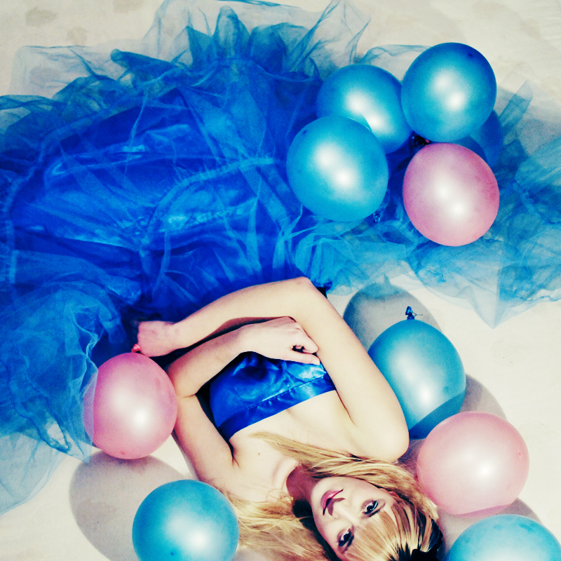balloon, balloons, baloons, blue, dress