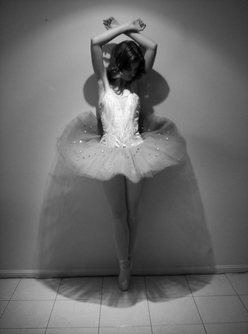 b&w, ballet, black and white, dance, girl, monochrome, tulle, tutu