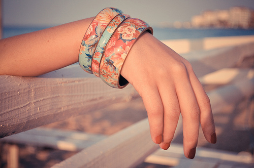 beach, beautiful, bracelet, cute, fashion, flower, flowers, girl, jewelry, light, love, nail polish, photo, photography, pink, pretty, vintage