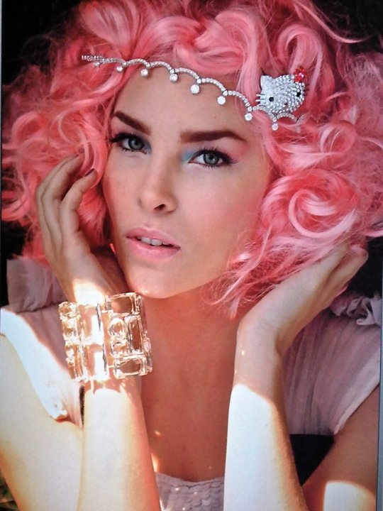 belinda, cat, dopamina, eyes, hair, hello kitty, photo, pink, singer