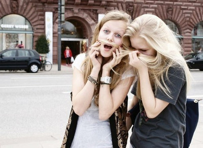 blond, city, friend, friends, fun, girl, girls, hair, laugh, laughing, shopping, skinny, thin, town