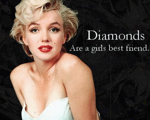 blonde, diamond, diamonds, glamour, marilyn