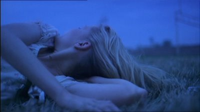 blue, coppola, field, film, kirsten dunst, lux, morning, movie, sad, the virgin suicides, virgin suicides