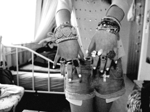 bracelets, cross, fashion, girl, rings