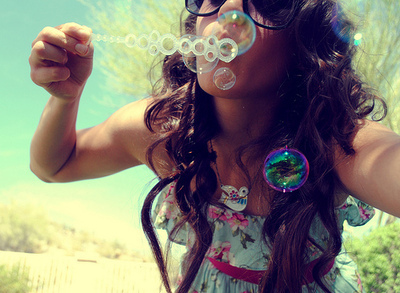 bubbles, colorful, cute, girl
