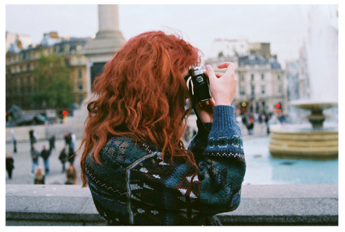 camera, girl, photography, red hair