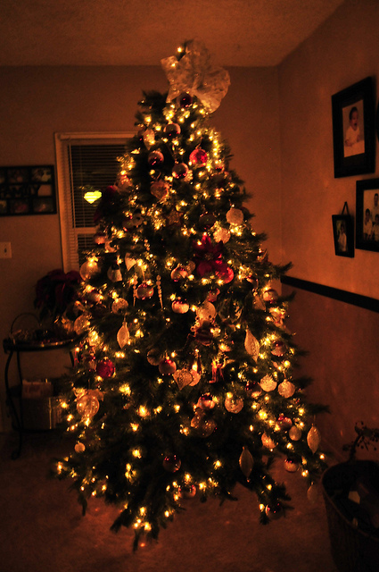 Christmas Tree Pictures In Homes : Christmas tree esferas home ight image
