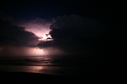 clouds, dark, ocean, sky, storm