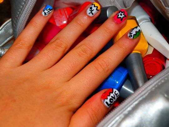 color, colorful, colors, girl, hand, nailpolish, nails, sullie, text
