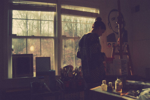 colors, cute, draw, girl, messy, paint, warm, windows