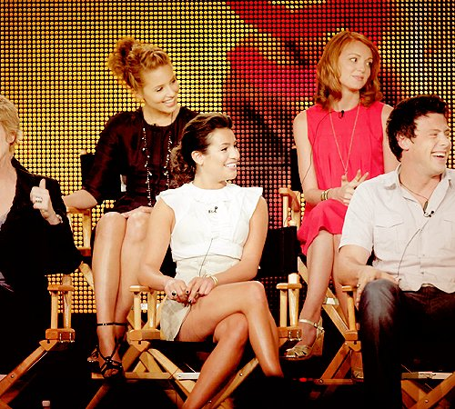 cory monteith, dianna agron, jane lynch, jayma mays, lea michele