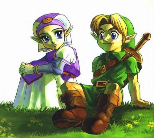 couple, drawing, game, link, nintendo