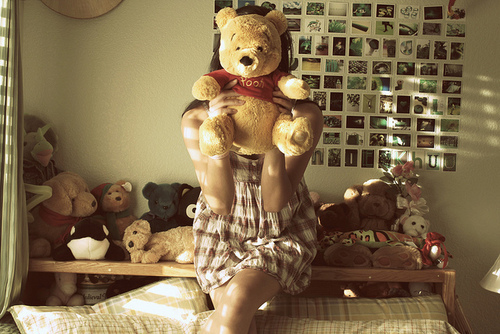 cute, dress, girl, winnie pooh