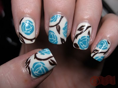 design, flowers, nail art, nails - image #163832 on Favim.com