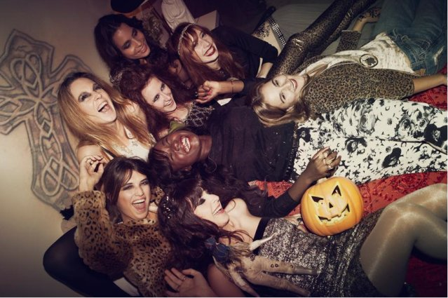 fashion, girls , party, pumpkin
