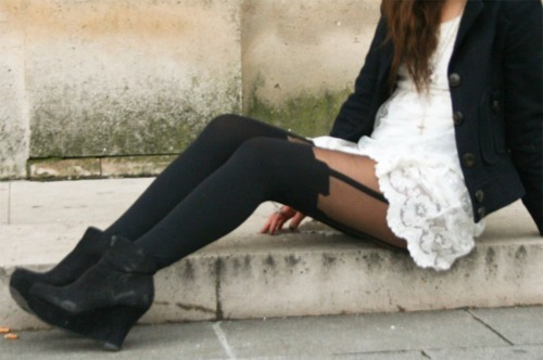 fashion, lace, stockings, wow