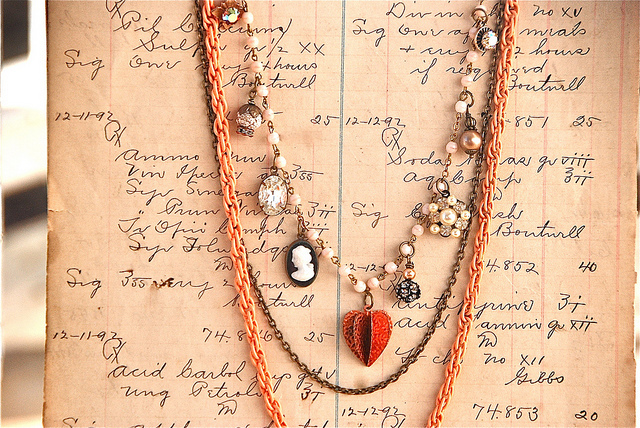 fashion, necklace, paper, photography, vintage