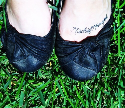 harry potter, mischief managed, tattoo